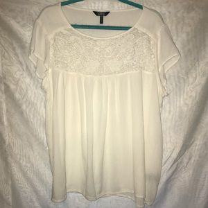 Nicole miller New York XXL 2XL white lace summer